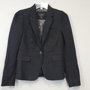 J. Crew Black One Button Pocket Blazer Size 2